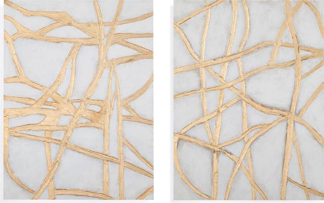 """tracks"" Wall Art, Multi, 2-Piece Set. -1"
