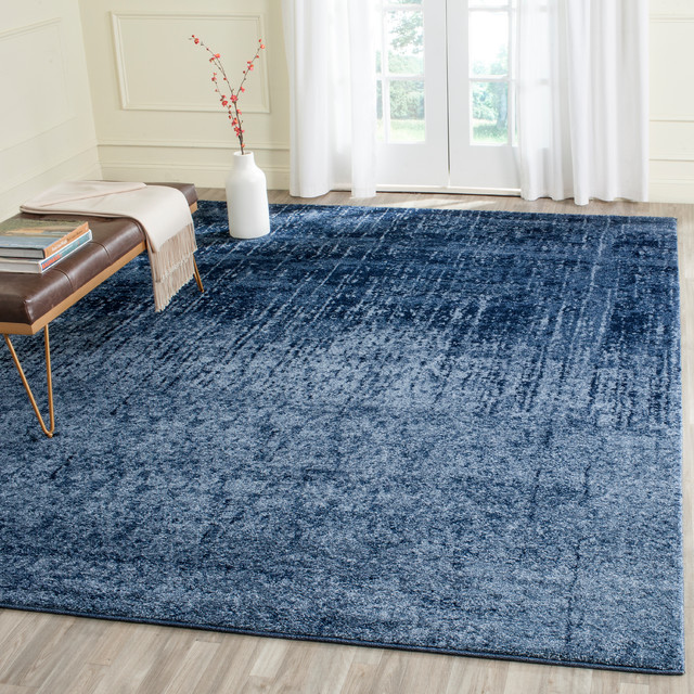 Milo Woven Rug, Light Blue, 8&x27;x10&x27;.