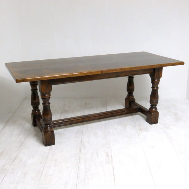 Dark oak refectory table for Traditional dining table uk
