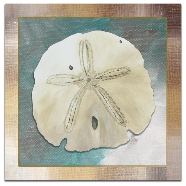 Beach Decor Silver Lining Sand Dollar Coastal Bathroom Art On Metal