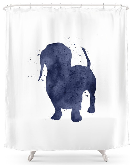 Dachshund Shower Curtain Contemporary Shower Curtains
