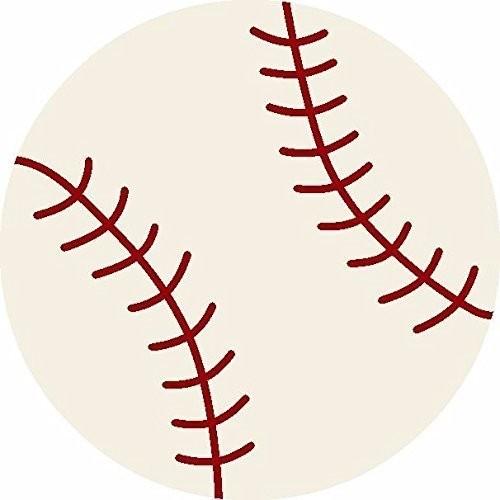 All Stars Baseball Ground Kids Rug, 3&x27; Round.
