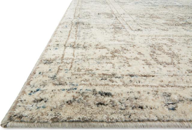 """Loloi Millennium Mv-04 Vintage/Distressed Rug, Taupe/Ivory, 9'6""""x13'0"""""""