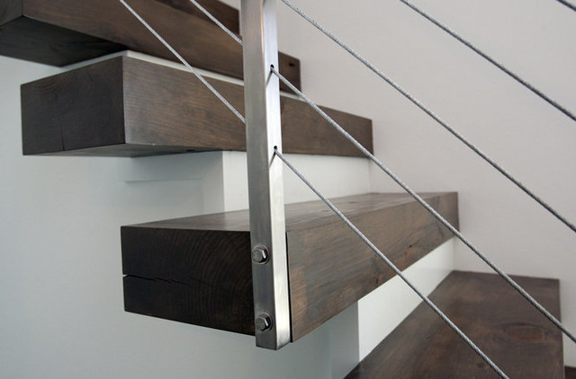 Floating Staircase Railing Modern