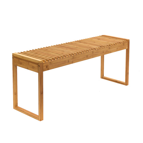 Natural Bamboo Entryway Seat
