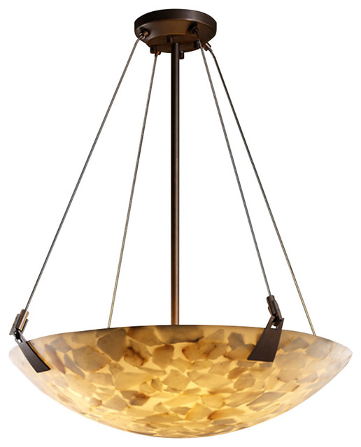 Alabaster Rocks 6 Light Pendant Dark Bronze