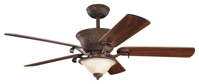 56 Quot High Country Ceiling Fan In Tannery Bronze With Gold