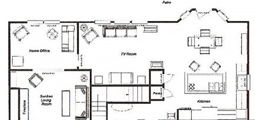 At a loss! Need help with family room layout please