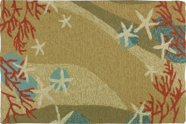 Coral Waves Indoor Rug Beach Style Area Rugs By