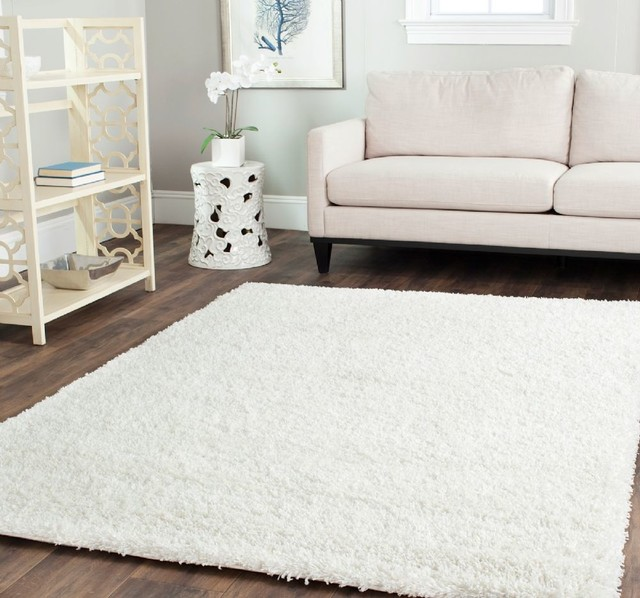 simple shag area rug white modernrugs