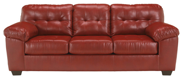 Ashley Alliston Sofa, Red, 93x39x38.