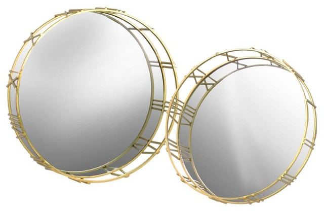 Urban Trends Collection 2-Piece Round Wall Mirrors Set