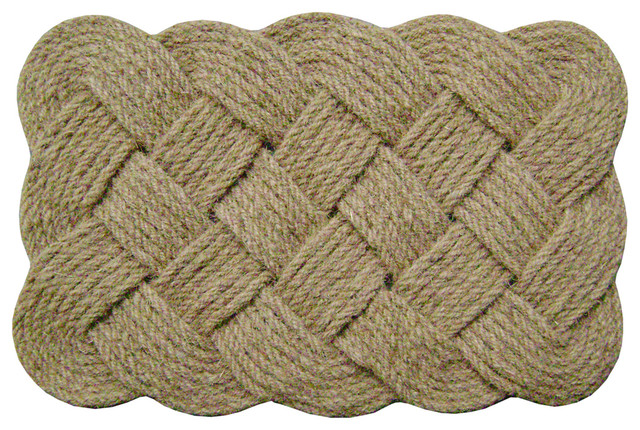 Lovers Knot Mat, Natural, 22 X 36 X 1.