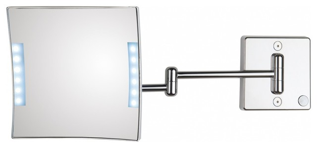 Quadrololed 61 2 Lighted Magnifying Mirror 3x Contemporary Makeup Mirrors