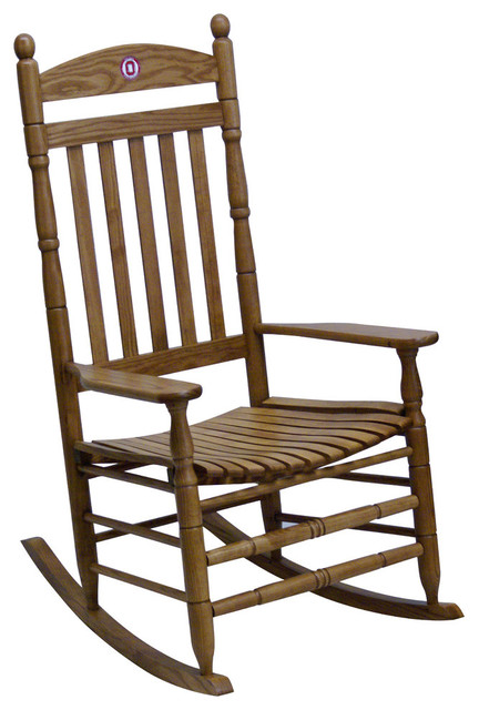 Hinkle Chair Ohio State Maple Collegiate Rocking Chair