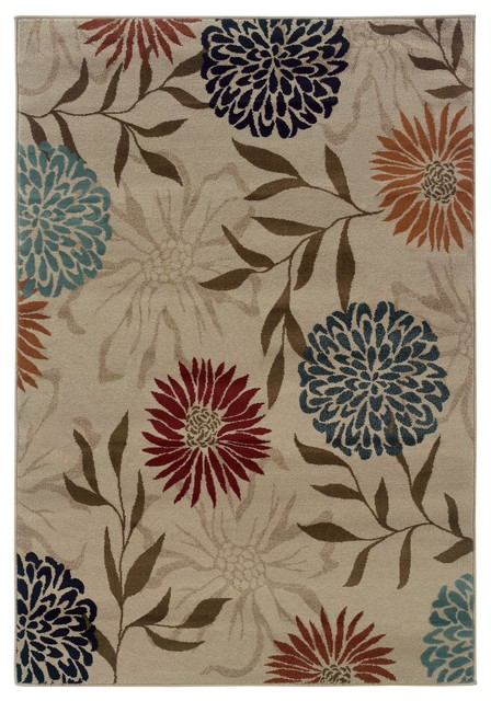 Sphinx Adrienne Stone Transitional Floral Rug