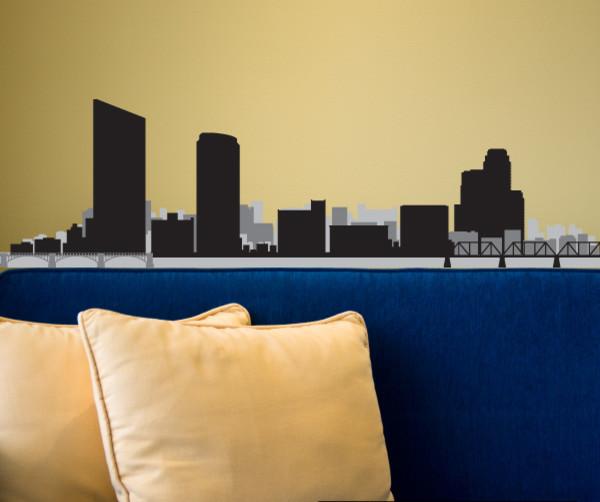 Grand Rapids Michigan Skyline Vinyl Wall Decal Or Car