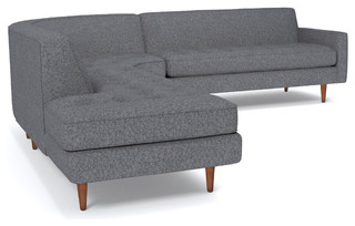 Monroe 3-Piece Sectional Sofa - Midcentury - Sectional Sofas - by Apt2B