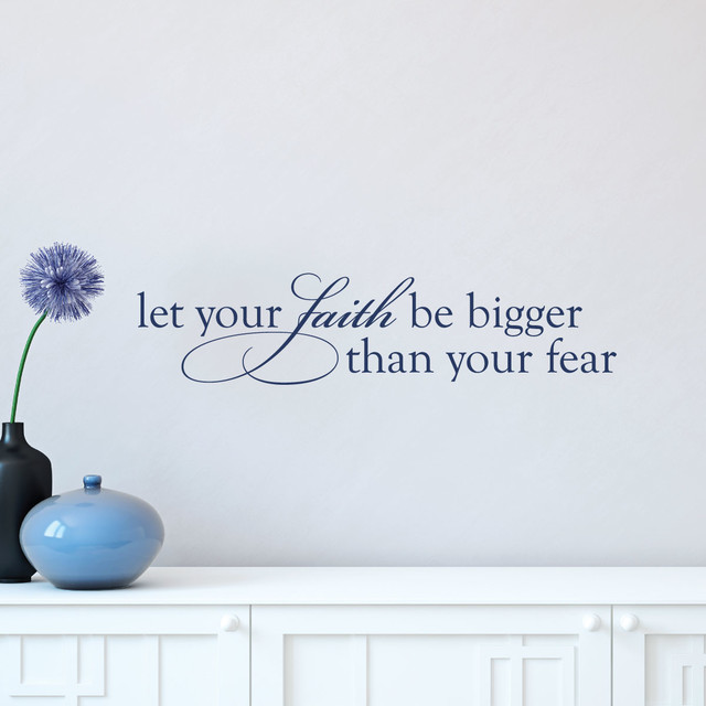 Faith Bigger Than Fear Religious Scripture Wall Quotes Decal