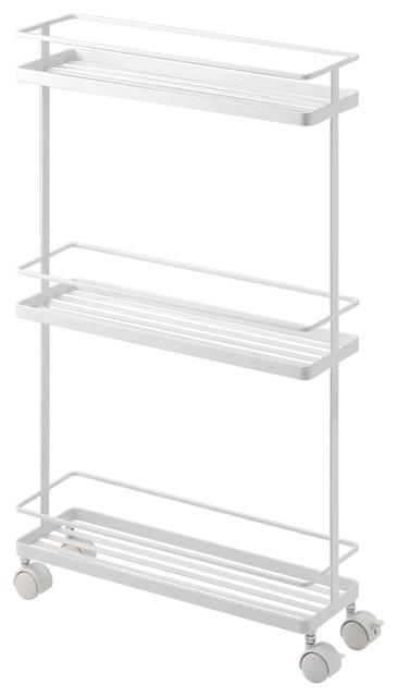 Tower Kitchen Storage Cart, White