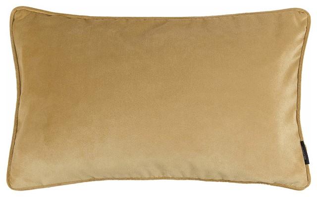 McAlister Matt Velvet Filled Pillow, Ochre Yellow, 40x60 cm