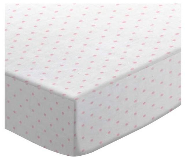 05019dba045 SheetWorld Round Crib Sheet, Pink Pindot Jersey Knit, Made In USA ...