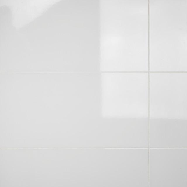 """12.38""""x24.88"""" Amandole Brillo Ceramic Wall Tiles, Blanco Brillo"""