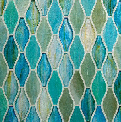 12 5 Quot X13 5 Quot Hourglass Series Glass Tile Mosaic