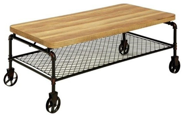 Furniture Of America Reagan Coffee Table With Casters