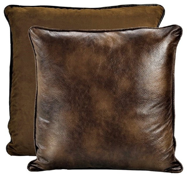 Swell Dark Brown Reversible Faux Leather Euro Sham Andrewgaddart Wooden Chair Designs For Living Room Andrewgaddartcom