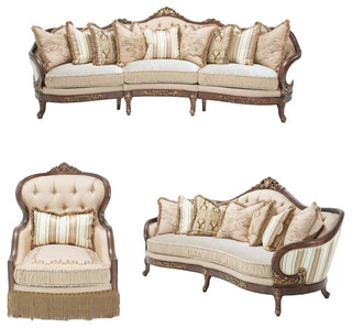 Aico Furniture, Villa Di Como 3 Piece Living Room Set   Victorian   Living  Room Furniture Sets   By GreatFurnitureDeal
