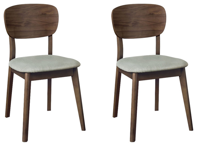 Oslo Walnut Furniture Dining Chairs, Set of 2