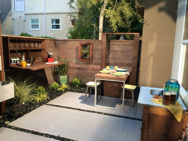 Ordinaire Small Urban Backyard Patio Contemporary