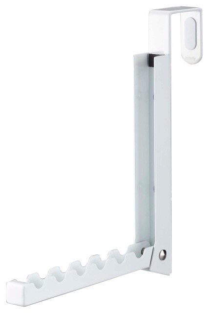 Smart Folding Over The Door Hook, White Contemporary Robe And