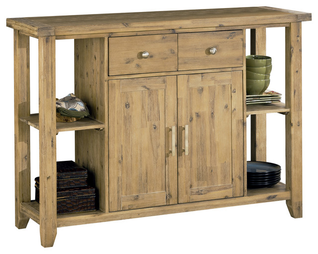 Autumn Solid Wood Sideboard Farmhouse Buffets And