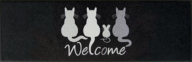 Easy Clean Cats Welcome Doormat, Large