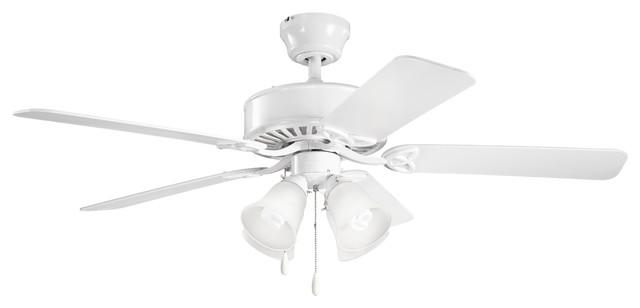 50 Renew Premier Fan, White/white Etched Glass.