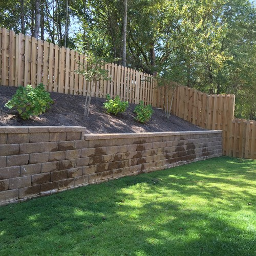Steps For Reaching Landscaping Above A Retaining Wall