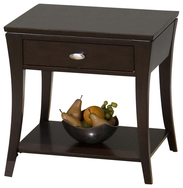 Awesome Jofran 629 3 Manhattan Espresso Square End Table Traditional Side Tables And