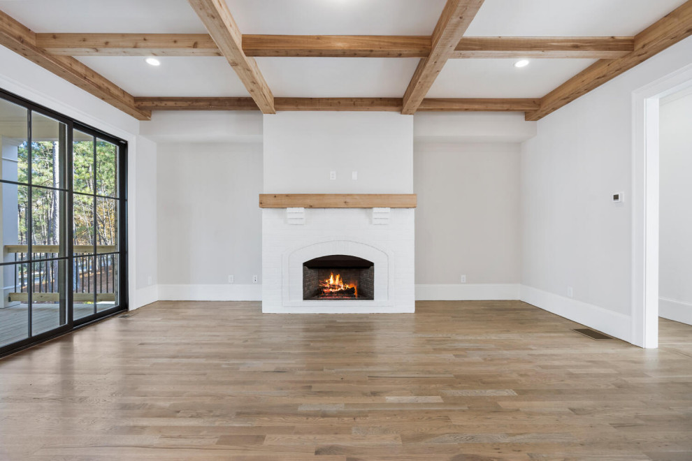 Example of a cottage family room design in Atlanta
