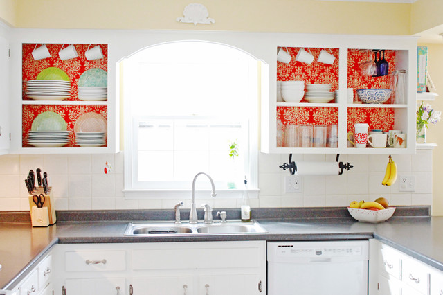 Budget Kitchen Hack Remove Doors On Cabinets For Instant Open Shelving Houzz Au