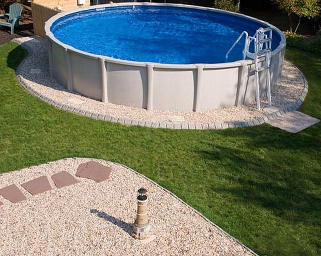 Stone Edge Around Pool