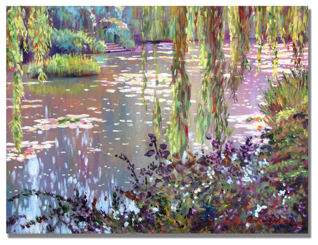 &x27;homage To Monet&x27; Canvas Art By David Lloyd Glover. -1