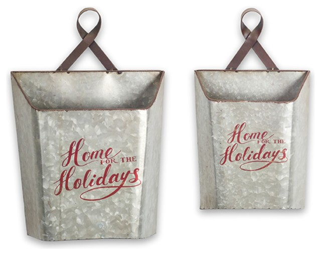 2-Piece Metal Wall Bucket Set.