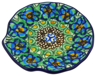 Polmedia Polish Pottery 4 Stoneware Tea Bag Or Lemon Plate Mediterranean Specialty Serveware By Polmedia Polish Pottery
