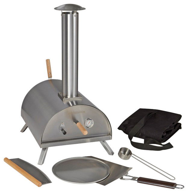 Portable Wood/Charcoal Fueled Pizza Oven