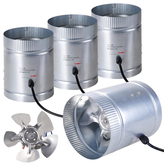 4 Inline Duct Booster Fan 6 Quot 260cfm Exhaust Blower For