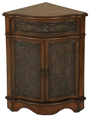 Welcome Home Accents   Walnut Corner Cabinet   Accent Chests And Cabinets