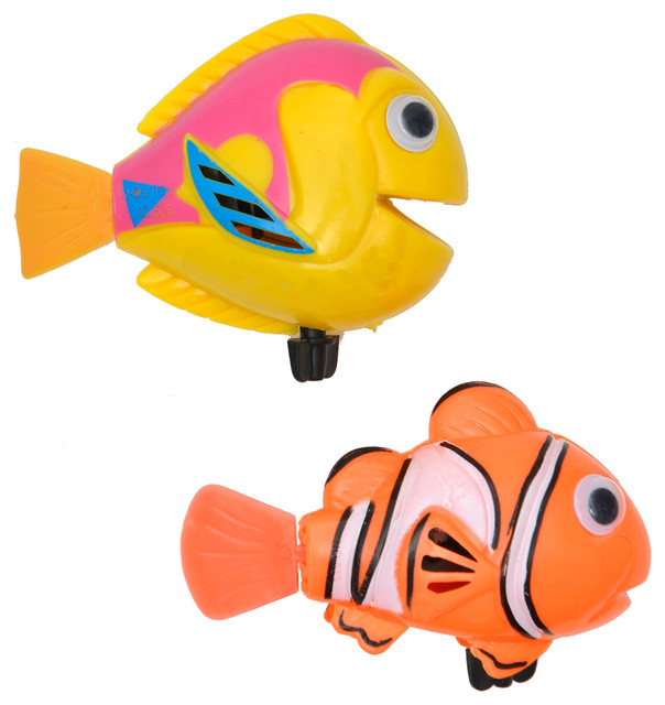 Evideco - 2-Piece Set Funny Wind Up Swimmers Clown Fish Bathtub ...