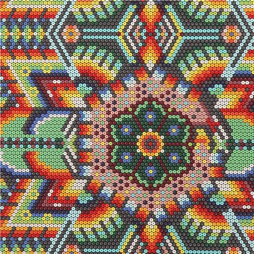 colorful sequin bead pattern fabric by Michael Miller USA
